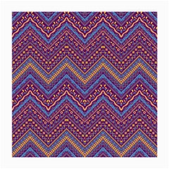 Colorful Ethnic Background With Zig Zag Pattern Design Medium Glasses Cloth by TastefulDesigns