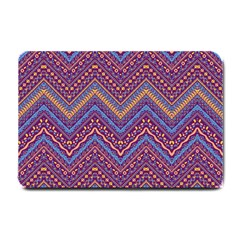 Colorful Ethnic Background With Zig Zag Pattern Design Small Doormat  by TastefulDesigns