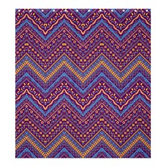 Colorful Ethnic Background With Zig Zag Pattern Design Shower Curtain 66  X 72  (large)  by TastefulDesigns
