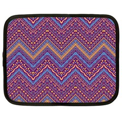 Colorful Ethnic Background With Zig Zag Pattern Design Netbook Case (xxl)  by TastefulDesigns