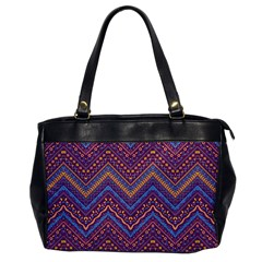 Colorful Ethnic Background With Zig Zag Pattern Design Office Handbags by TastefulDesigns