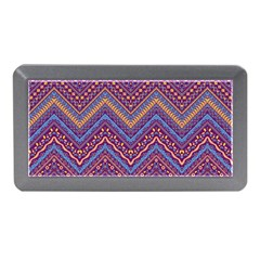 Colorful Ethnic Background With Zig Zag Pattern Design Memory Card Reader (mini) by TastefulDesigns