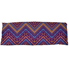 Colorful Ethnic Background With Zig Zag Pattern Design Body Pillow Case Dakimakura (two Sides) by TastefulDesigns