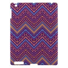 Colorful Ethnic Background With Zig Zag Pattern Design Apple Ipad 3/4 Hardshell Case by TastefulDesigns