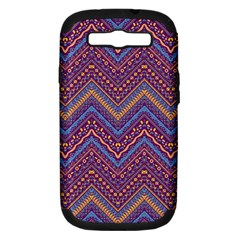 Colorful Ethnic Background With Zig Zag Pattern Design Samsung Galaxy S Iii Hardshell Case (pc+silicone) by TastefulDesigns