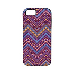 Colorful Ethnic Background With Zig Zag Pattern Design Apple Iphone 5 Classic Hardshell Case (pc+silicone) by TastefulDesigns