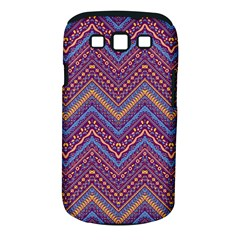 Colorful Ethnic Background With Zig Zag Pattern Design Samsung Galaxy S Iii Classic Hardshell Case (pc+silicone) by TastefulDesigns