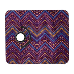 Colorful Ethnic Background With Zig Zag Pattern Design Galaxy S3 (flip/folio) by TastefulDesigns
