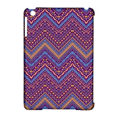 Colorful Ethnic Background With Zig Zag Pattern Design Apple Ipad Mini Hardshell Case (compatible With Smart Cover) by TastefulDesigns