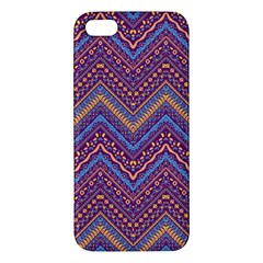 Colorful Ethnic Background With Zig Zag Pattern Design Apple Iphone 5 Premium Hardshell Case by TastefulDesigns