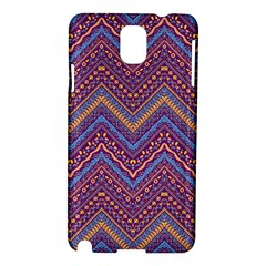 Colorful Ethnic Background With Zig Zag Pattern Design Samsung Galaxy Note 3 N9005 Hardshell Case by TastefulDesigns