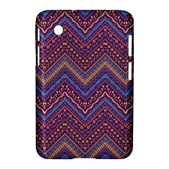 Colorful Ethnic Background With Zig Zag Pattern Design Samsung Galaxy Tab 2 (7 ) P3100 Hardshell Case  by TastefulDesigns