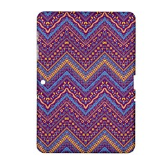 Colorful Ethnic Background With Zig Zag Pattern Design Samsung Galaxy Tab 2 (10 1 ) P5100 Hardshell Case  by TastefulDesigns