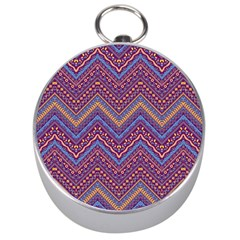 Colorful Ethnic Background With Zig Zag Pattern Design Silver Compasses by TastefulDesigns