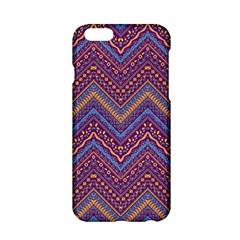 Colorful Ethnic Background With Zig Zag Pattern Design Apple Iphone 6/6s Hardshell Case by TastefulDesigns