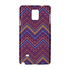 Colorful Ethnic Background With Zig Zag Pattern Design Samsung Galaxy Note 4 Hardshell Case by TastefulDesigns
