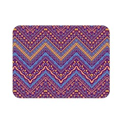 Colorful Ethnic Background With Zig Zag Pattern Design Double Sided Flano Blanket (mini)  by TastefulDesigns
