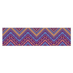 Colorful Ethnic Background With Zig Zag Pattern Design Satin Scarf (oblong) by TastefulDesigns
