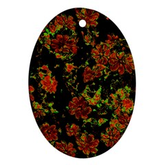 Floral Dreams 12 C Oval Ornament (two Sides) by MoreColorsinLife