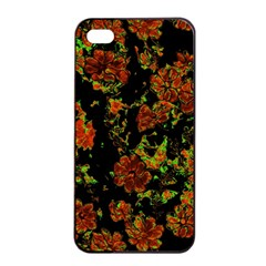Floral Dreams 12 C Apple Iphone 4/4s Seamless Case (black) by MoreColorsinLife