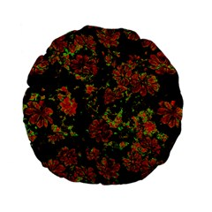 Floral Dreams 12 C Standard 15  Premium Flano Round Cushions by MoreColorsinLife