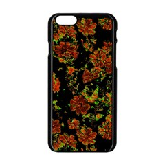 Floral Dreams 12 C Apple Iphone 6/6s Black Enamel Case by MoreColorsinLife