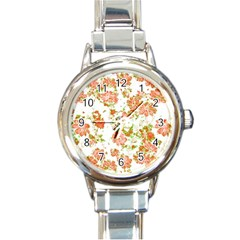 Floral Dreams 12 D Round Italian Charm Watch by MoreColorsinLife