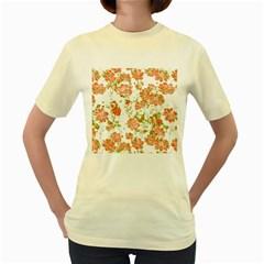 Floral Dreams 12 D Women s Yellow T-Shirt