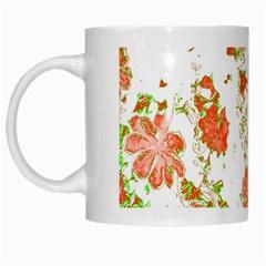 Floral Dreams 12 D White Mugs