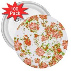 Floral Dreams 12 D 3  Buttons (100 pack)