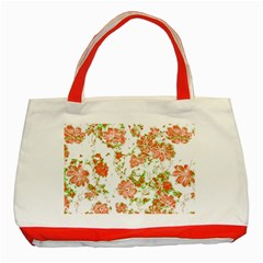 Floral Dreams 12 D Classic Tote Bag (red) by MoreColorsinLife