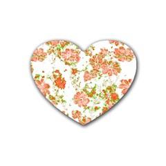 Floral Dreams 12 D Heart Coaster (4 pack)