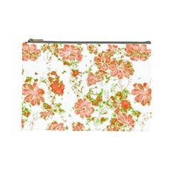 Floral Dreams 12 D Cosmetic Bag (Large)