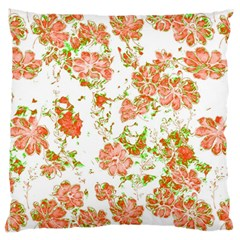 Floral Dreams 12 D Large Flano Cushion Case (one Side)