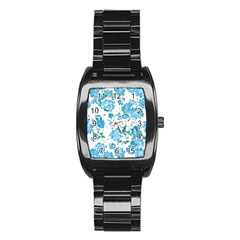 Floral Dreams 12 E Stainless Steel Barrel Watch by MoreColorsinLife