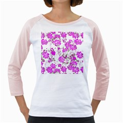 Floral Dreams 12 F Girly Raglans by MoreColorsinLife