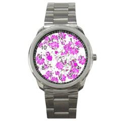 Floral Dreams 12 F Sport Metal Watch by MoreColorsinLife