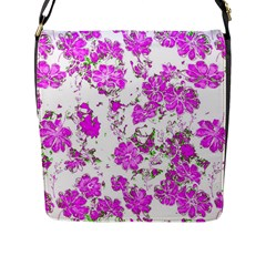 Floral Dreams 12 F Flap Messenger Bag (l)  by MoreColorsinLife