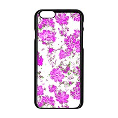 Floral Dreams 12 F Apple Iphone 6/6s Black Enamel Case by MoreColorsinLife