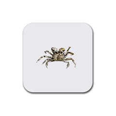 Dark Crab Photo Rubber Coaster (square)  by dflcprints