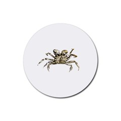 Dark Crab Photo Rubber Round Coaster (4 Pack)  by dflcprints