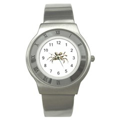 Dark Crab Photo Stainless Steel Watch by dflcprints