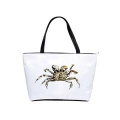 Dark Crab Photo Shoulder Handbags by dflcprints