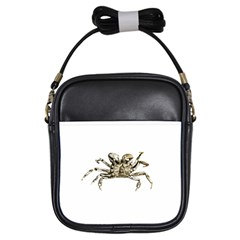 Dark Crab Photo Girls Sling Bags by dflcprints
