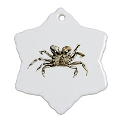 Dark Crab Photo Ornament (snowflake) by dflcprints