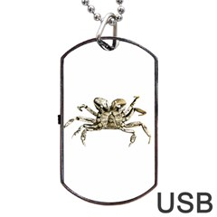 Dark Crab Photo Dog Tag Usb Flash (one Side) by dflcprints