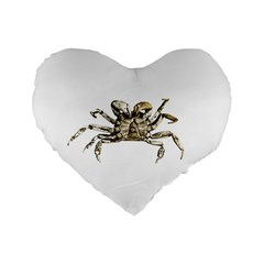 Dark Crab Photo Standard 16  Premium Heart Shape Cushions by dflcprints