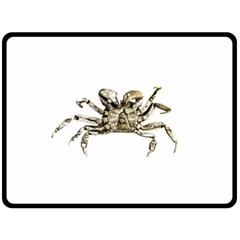 Dark Crab Photo Double Sided Fleece Blanket (large)  by dflcprints