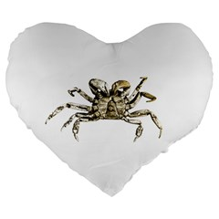 Dark Crab Photo Large 19  Premium Flano Heart Shape Cushions by dflcprints