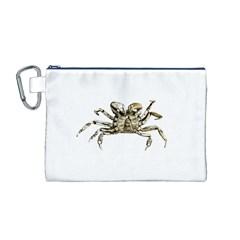 Dark Crab Photo Canvas Cosmetic Bag (m) by dflcprints